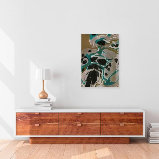 Abstrakcja - Obraz z plamami