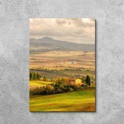 Obraz rolnicze tereny Toskanii