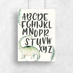 Plakat dla dzieci diplozaur