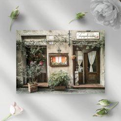 Obraz z restauracyjką i menu