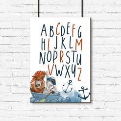 Plakat alfabet dla dzieci