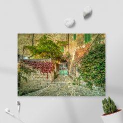 Obraz kamienne uliczki