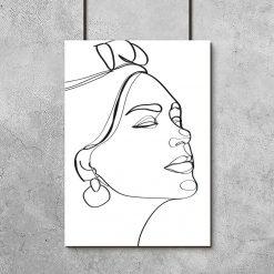 Nowoczesny plakat artystyczny z kobietą do dekoracji salonu