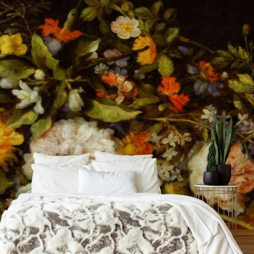 Foto-tapeta z kwiatkami do sypialni