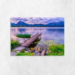 Obraz z fioletowym widokiem na jezioro