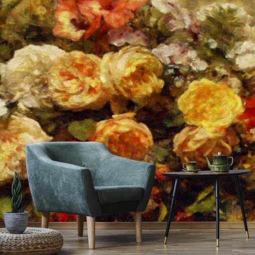 Różane ozdoby na tapecie
