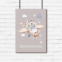 Plakat dziecięcy - Samolot dla chłopca