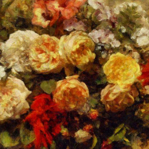 Tapeta z kwiatowymi ozdobami