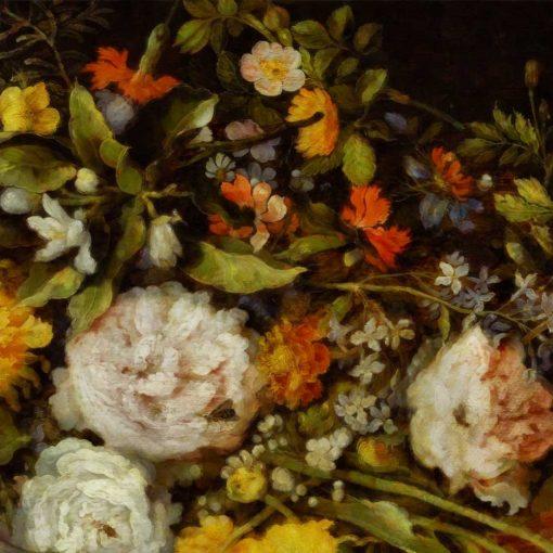 Kwiatowa tapeta do dekoracji sypialni