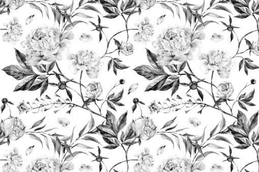 Motywy kwiatowe na tapecie do salonu