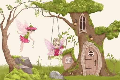Fototapeta z domkiem w drzewie