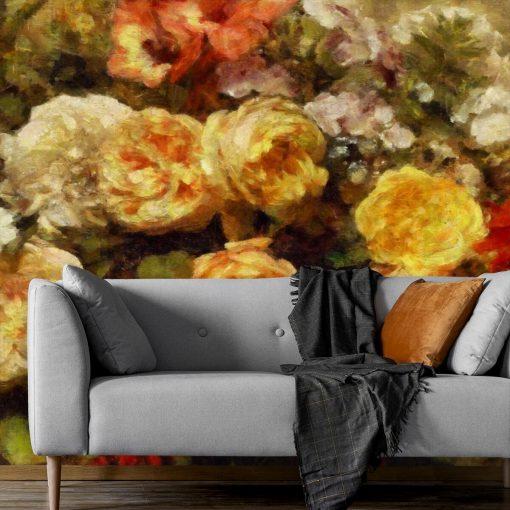Fototapeta namalowane róże
