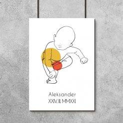 Plakat dziecinny z motywem bobasa