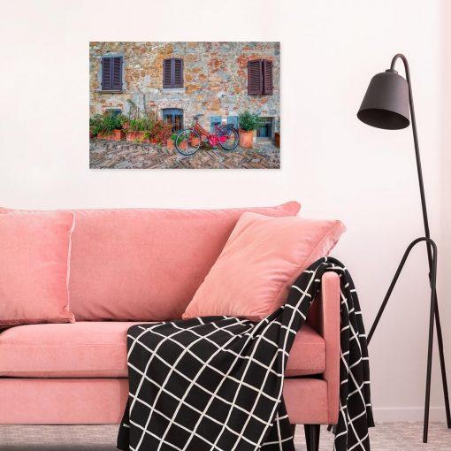 Kolorowy obraz z rowerem do gabinetu