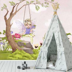 Fototapeta czarodziejka z jeżyną dla dziewczynki