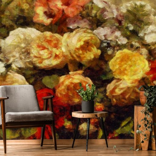 Fototapeta z różyczkami do salonu