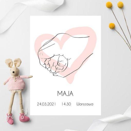 Plakat imienny z motywem line art do dziecięcych pomieszczeń