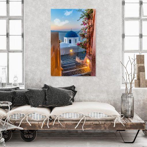 Kolorowy obraz z greckim krajobrazem do gabinetu