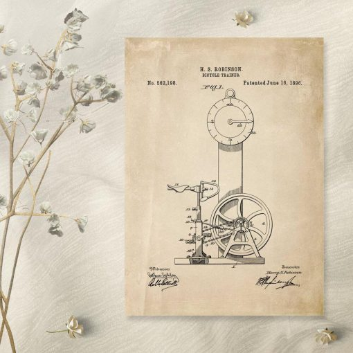 Plakat z motywem rowerka treningowego do siłowni