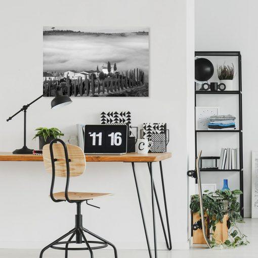 Obraz do gabinetu w cyprysami