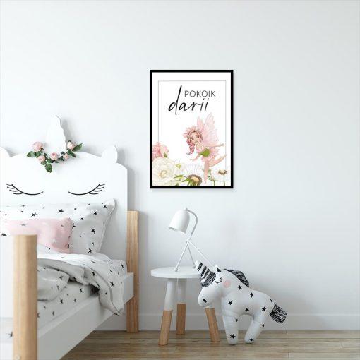 Imienny plakat dziewczęcy z wróżką