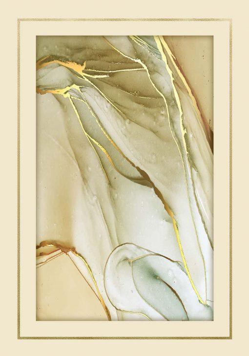 Plakat z motywem abstrakcji do oprawienia