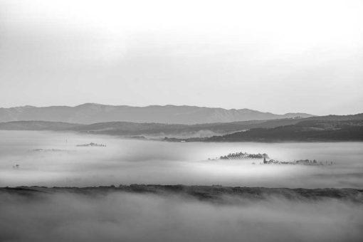 Obraz z krajobrazem w szarej tonacji