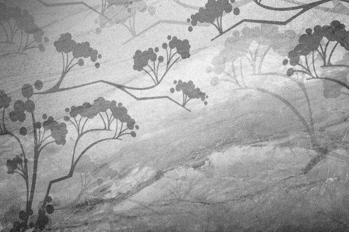Motyw rośliny na tapecie do dekoracji salonu