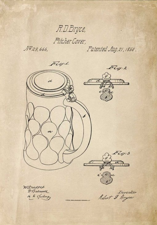 Plakat patent na osłonkę kufla do piwa