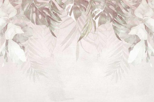 Tapeta z motywem liści monstery i innych