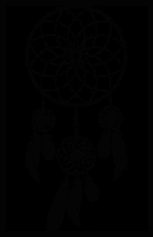 Przestrzenny ornament boho - łapacz snów