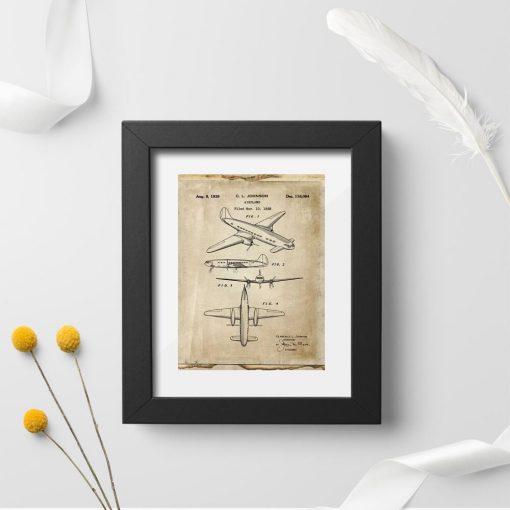Poster projektem samolotu jednopłatowego