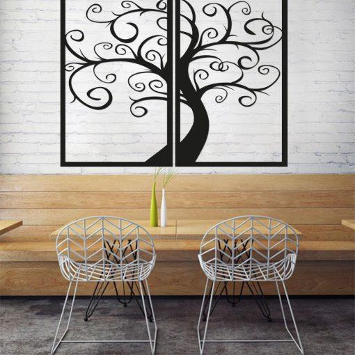 Dekoracja w formie ażuru 3d - drzewo