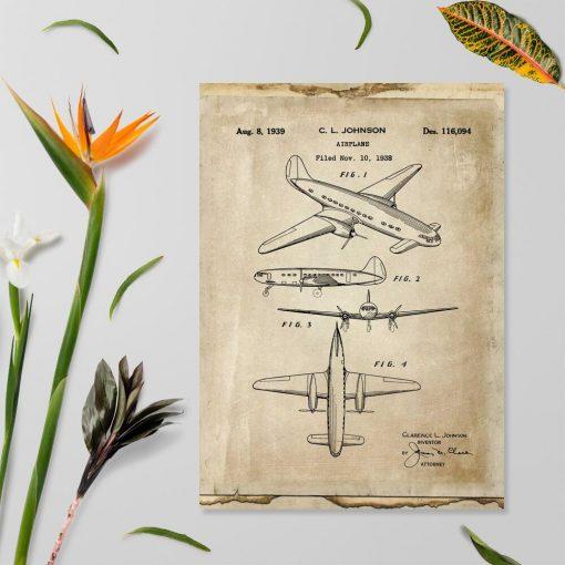 Poster z samolotem
