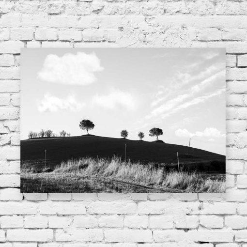 obraz ze wzgórzem Toskanii