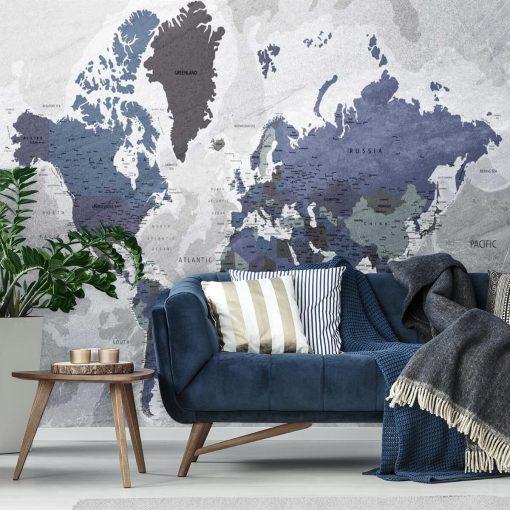 Fototapeta z motywem mapy do dekoracji gabinetu