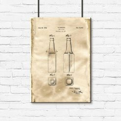 Plakat z licencją na produkcję butelki do piwa