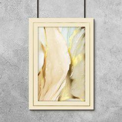 Wspaniała abstrakcja złoto i błękit - poster