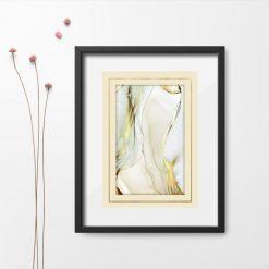 Plakat ze złotą abstrakcją
