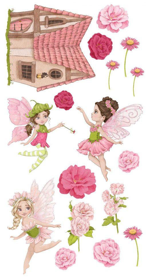 Naklejki dla dziewczynki - Kraina wróżek