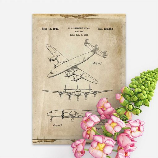Samolot pasażerski - plakat