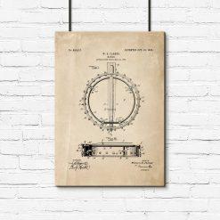 Poster dla miłośnika muzyki - Patent na banjo do sypialni