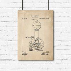 Plakat projekt rowerka treningowego do dekoracji sali ćwiczeń