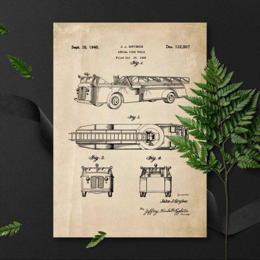 Plakat straż pożarna z 1939r. - koncepcja
