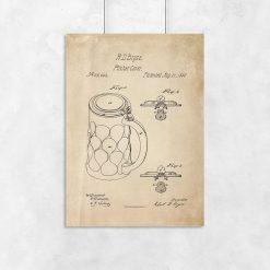 Plakat z certyfikatem na pitcher cover
