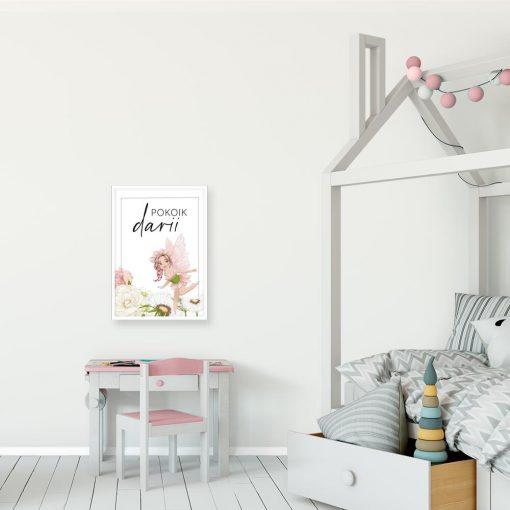 Plakat imienny dla dziewczyn z motywem wróżki