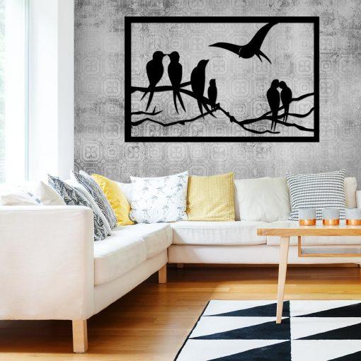 Zakochane ptaszki - dekoracja 3d