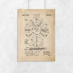 Plakat z kalendarzem mechanicznym - patent
