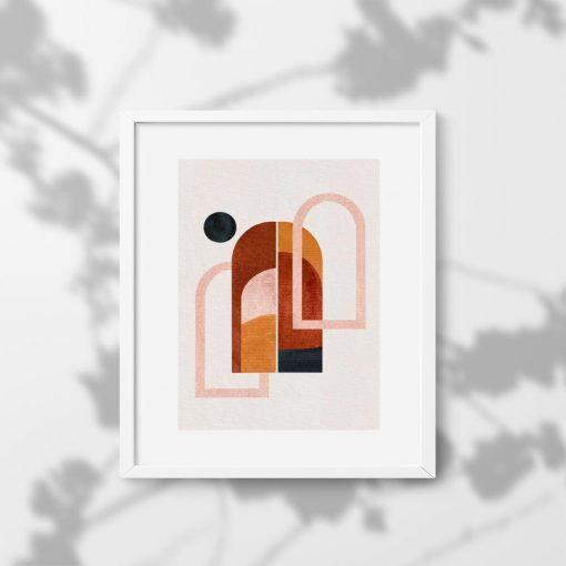 Plakat z motywem abstrakcyjnego pejzażu