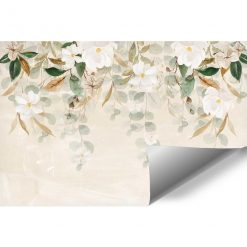Fototapeta w białe kwiaty do sypialni